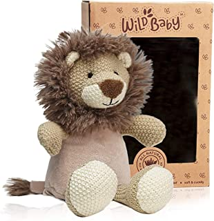 WILD BABY Heatable Plush Pal Toy Warm Cozy Lavender Scented Microwavable Stuffed Animal Lion