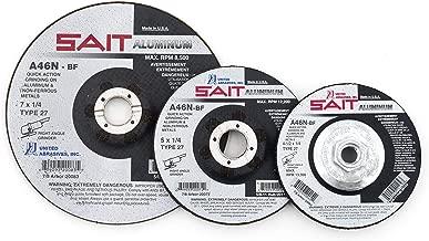 United Abrasives-SAIT 20062 Type 27 4-1/2-Inch x 1/4-Inch x 7/8-Inch Grade A46N Soft Bond Depressed Center Grinding Wheels, 25-Pack