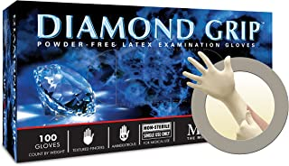 Microflex Diamond Grip Powder-Free Latex Exam Gloves, Extra Large, 100 Gloves per Box, 10 Boxes per Case