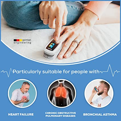 Beurer PO30 Fingertip Pulse Oximeter, Medical Device with 4 Colored Graphic Display Formats, Grey, 1 Count