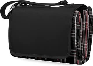 ONIVA - a Picnic Time Brand Outdoor Picnic Blanket Tote XL, Black Tartan