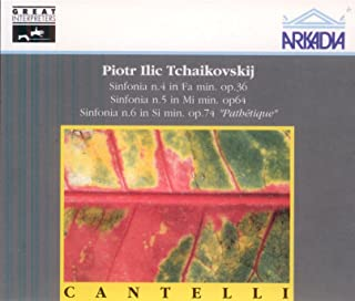 Cantelli Conducts Tchaikovsky: Symphony No. 4 (recorded 14 February 1954); Symphony 5 (5 March 1952); Symphony 6 (21 February 1953) (all with NBC Symphony, Carnegie Hall); Symphony 4, mvts. 2-4 (30 January 1955 with NYPO in Carnegie Hall)