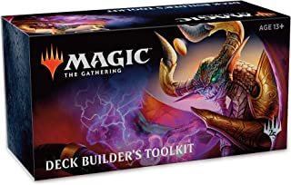 Magic: The Gathering Core Set 2019 (M19) Deck Builders Toolkit | 4 Booster Pack + 125 Cards | Accessories