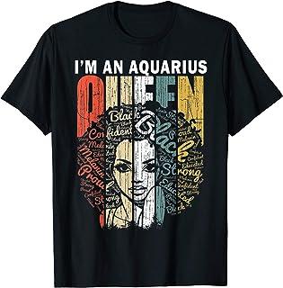 Queen Aquarius Gifts for Women Shirt - February January Bday T-Shirt