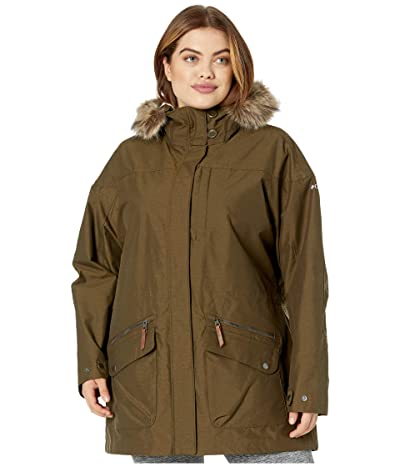 Columbia Plus Size Carson Pass IC Jacket (Olive Green) Women