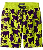 Vilebrequin Kids - Happy Monkey Flocked Swim Trunk (Big Kids)