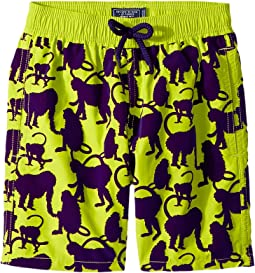 Happy Monkey Flocked Swim Trunk (Big Kids)