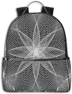 Mochila Tipo Casual Mochila Escolares Mochilas Escolar Estilo Impermeable para Viaje De Ordenador Portátil para Hombre Mujer Spiral Flower Art