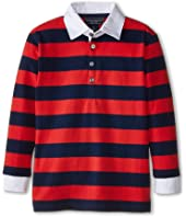 Toobydoo - Rugby Red Polo (Infant/Toddler/Little Kids/Big Kids)
