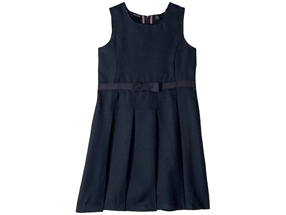 Nautica Kids Square Neck Jumper (Big Kids) (Navy) Girl