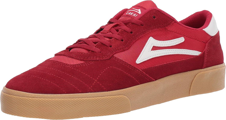 Lakai Footwear Cambridge Jovontae Turner Project Red Gum Suede