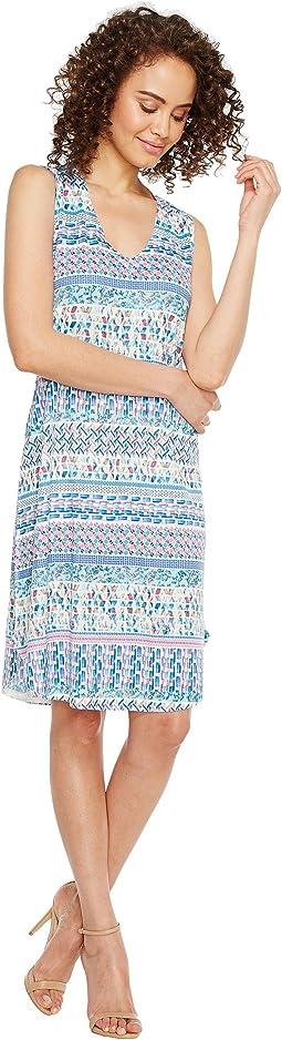 Ikat Stripe Print Dress