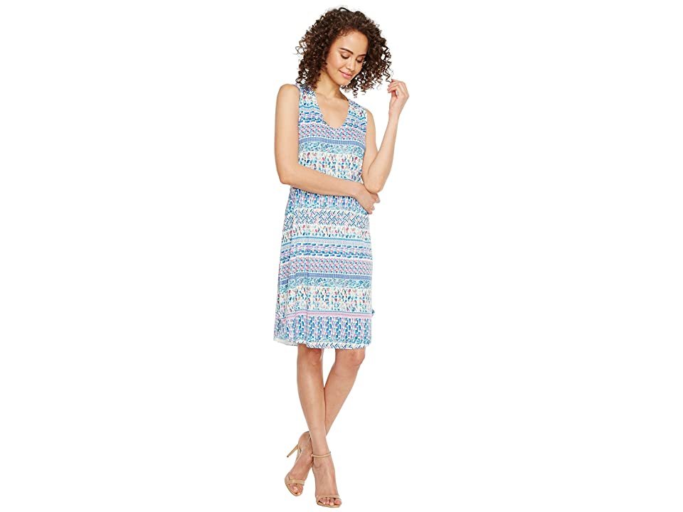 Nally & Millie Ikat Stripe Print Dress (Multi) Women