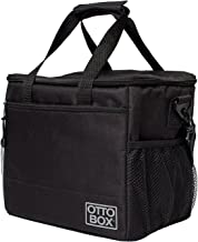 OTTO BOX Insulated Lunch Cooler Bag: For Men & Women    XL Lunch Boxes Bags for Adults with Large Side Pockets and Shoulder Strap    Black
