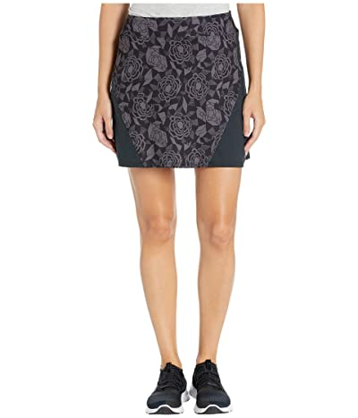 Skirt Sports Gym High-Waist Skirt (Noir Fleur Print) Women