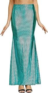Halloween Women's Fish Scale Mermaid Costume Skirt