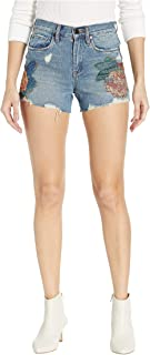 [BLANKNYC] Blank NYC Women's The Barrow High-Rise Floral Detail Shorts in Wild Flower