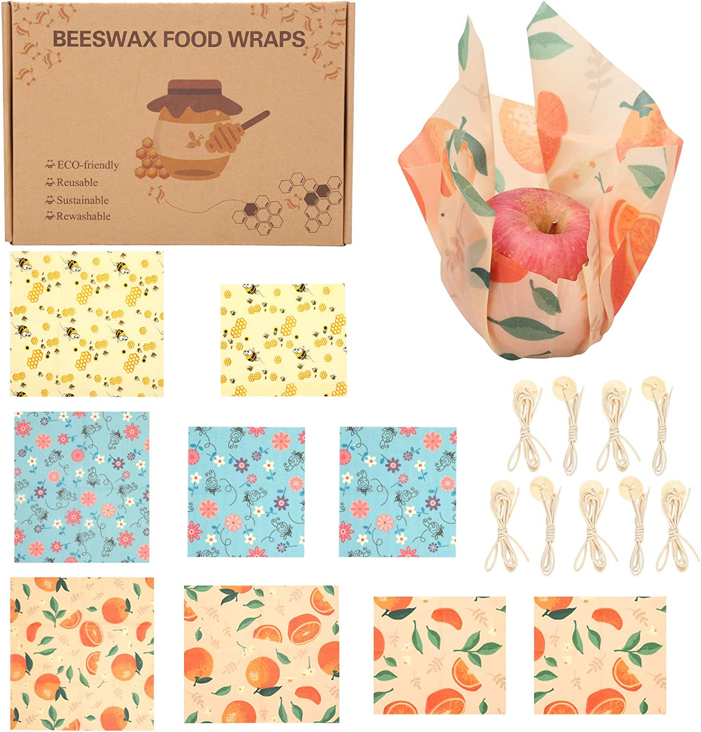 Merforu Reusable Beeswax Wraps Assorted Packs R 9 Complete Free Shipping Eco-Friendly - Max 63% OFF