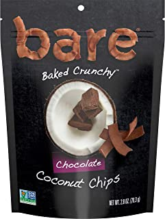 Bare Natural Coconut Chips, Chocolate, Gluten Free + Baked, Multi Serve Bag - 2.8 Oz (6 Count)