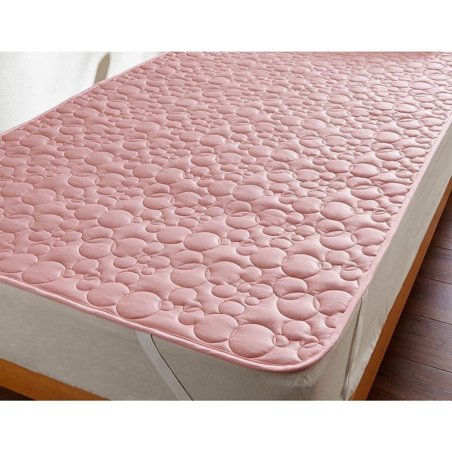 アイロニー置くためにパックピストン[ベルメゾン] ディズニー ベッドパッド?敷きパッド 接触冷感 ひんやり ピンク ダブル