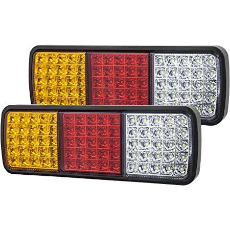 2pcs LED Truck Taillights 20 LED F5 Lamp Beads Waterproof and Dustproof Taillight Rear Lamp Trailer Truck Bus Trailer RV