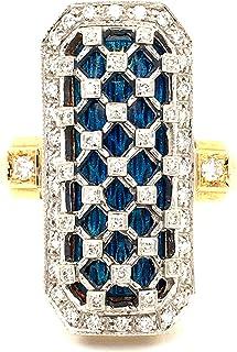 Anello in Oro 18K con Diamanti Naturali E SMALTI