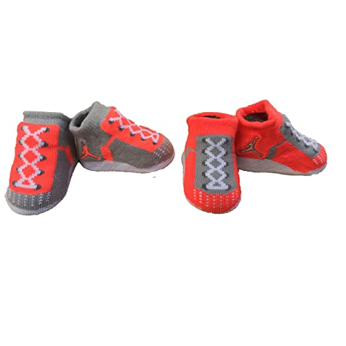 6578eae1879 Nike Air Jordan Infant Baby Boys Booties Lava Size: 0-6 M