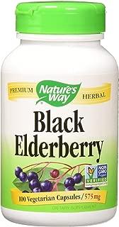 Nature's Way Black Elderberry, 575 milligrams 100 Veggie Capsules Pack of 1