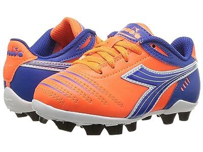 Diadora Kids Cattura MD JR Soccer (Toddler/Little Kid/Big Kid) (Orange/Blue) Kids Shoes