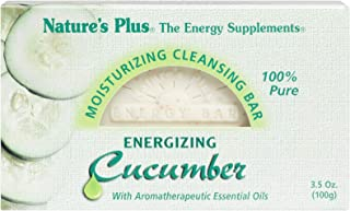 NaturesPlus Cucumber Moisturizing Cleansing Bar - 3.5 Ounce - Gentle Cleansing, Emollient Rich - Aromatherapeutic Essentia...