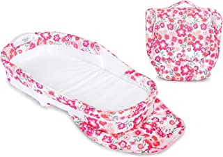Baby Delight Snuggle Nest Harmony Infant Sleeper/Baby Bed with Incline Wedge   Garden Dreams Fabric Pattern   Portable Bas...