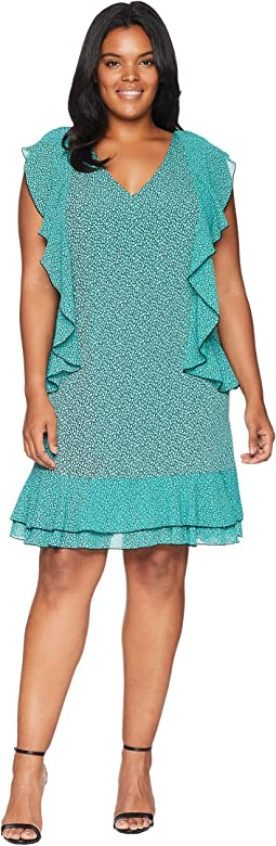 Plus Size Mini Leo Cascade Dress