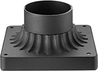 Emliviar Pier Mount Base, Cast Aluminum Pier Mount Adapter in Black Finish, 20069 BK
