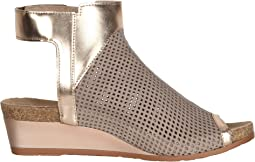 Stone Nubuck Perforated/Rose Gold Leather