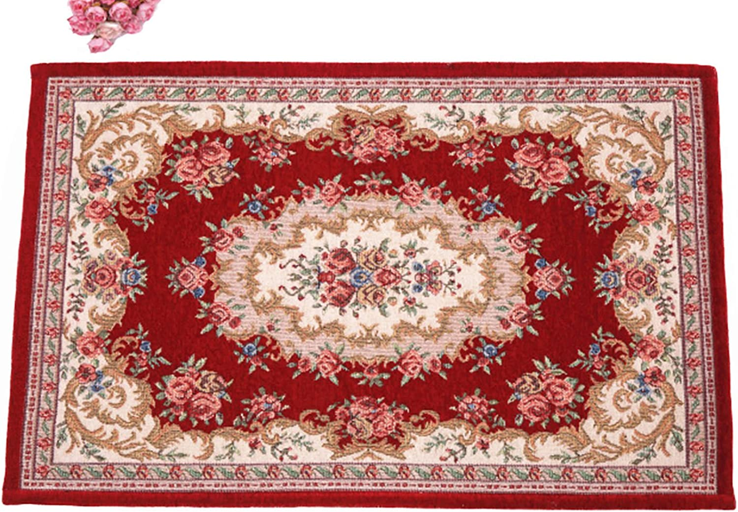 Belimely Carpet Mats European Carpet Living Room Door Mats Non Slip Mats Ruhumen Jacquard Sofa Table Easu Clean Soft Plush Be-dm-19-Red-23.62  x35.43
