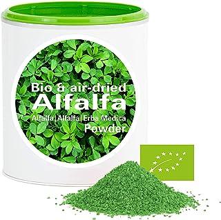 Alfalfa en Polvo - rica en vitamina|biológico|vegano|crudo|pura nutrición|no aditivo|Good Nutritions|150g