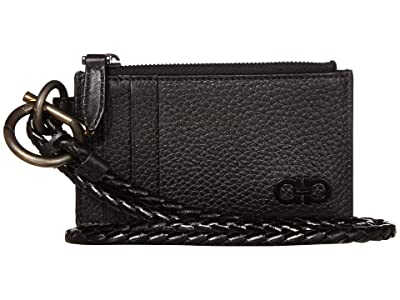 Salvatore Ferragamo Color Block Lanyard (Black) Wallet