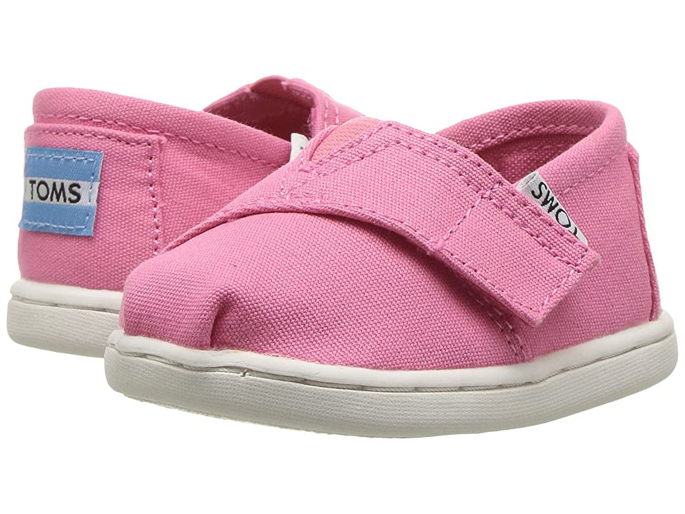 TOMS Kids Seasonal Classics (Infant/Toddler/Little Kid) (Bubblegum Pink Canvas) Girls Shoes