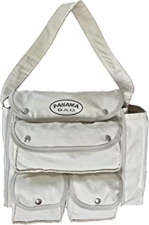 Rugged Panama Tote Bag with Four External Pockets