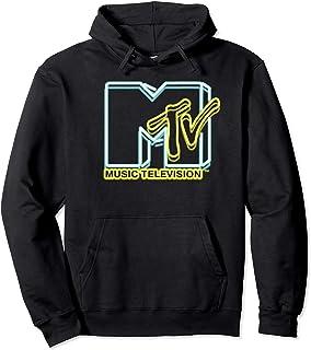 MTV Neon Lights Sign Logo Retro Graphic Hoodie