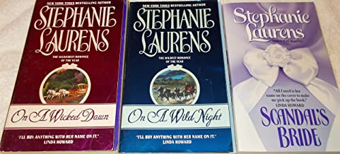 Stephanie Laurens: 3 Book set: Softcover: Scandal's Bride: On A Wild Night: On A Wicked Dawn: Very Good