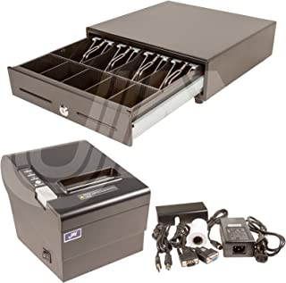 JAY Combo Pkg 941, PRINTER+CASH DRAWER work w/PC + PRINTER Md 6320, 80mm/3⅛
