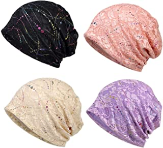 Lace Beanies Chemo Caps Cancer Skull Cap Knitted hat for Womens
