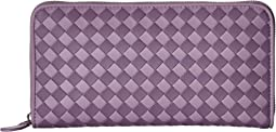 Bottega Veneta Intrecciato Check Zip Around Wallet