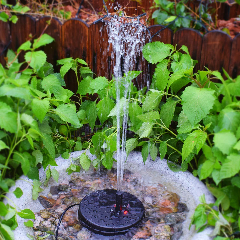 LUXJET 3.5W Solar Springbrunnen Solarpumpe con litio, Springbrunnen jardín, Solarpumpe Springbrunnen, Wasserpumpe Solar, pozo de jardín, máxima Wassersprühhöhe 1,8 M: Amazon.es: Jardín