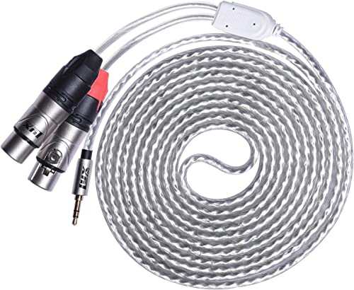 high quality LyxPro Y-Cable 3.5mm TRS outlet sale Male to 2 XLR Female Stereo Audio Y-Splitter Adapter popular Cable - 10 Feet online