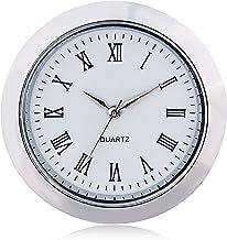 ShoppeWatch ساعة صغيرة إدراج حركة الكوارتز جولة 1 7/16 بوصة (35 مم) ساعة مصغرة تناسب الوجه الأبيض لهجة الحافة الرومانية CK...