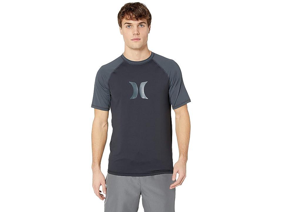 Hurley Icon Loose Fit Rashguard Tee (Black) Men's Swimwear