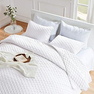 SLEEP ZONE Reversible Quilt Set - Twin Size (1 Pillow Sham) - Ultra Soft Lightweight Microfiber Bedding Coverlet for All S...