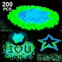 SUNNEST Glow in The Dark Pebbles,Glow Garden Stones for Garden/Fish Tank/Aquarium/Plant Pots/Bonsai Walkway/Driveway Moonlight Yard Plant Decorations 200pcs